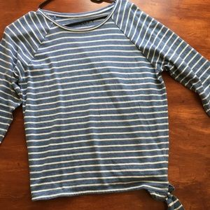 Loft shirt. 3 quarter inch sleeve. Blue striped